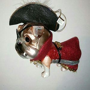December Diamond Captain Hook Bulldog Ornament